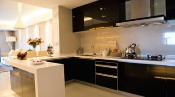EKB Black & White Modern Kitchen