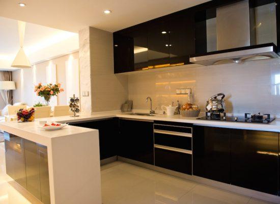 EKB Black & White Modern Kitchen