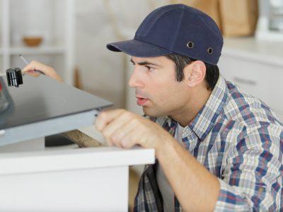 installing kitchen cupboards